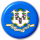 Connecticut State Flag 25mm Pin Button Badge